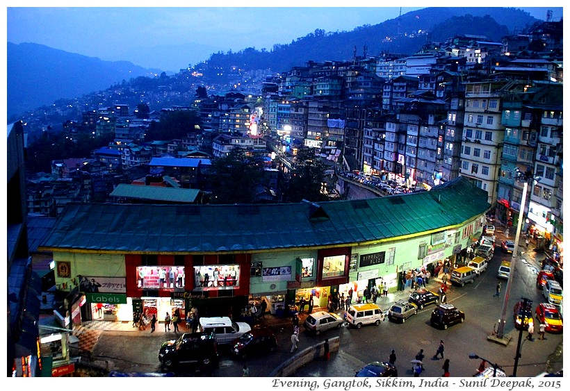 Evening lights, Gangtok, Sikkim, India - Images by Sunil Deepak