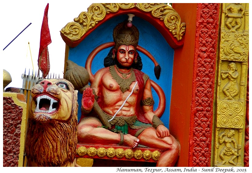 Hanuman statue, Tezpur, Assam, India - Images by Sunil Deepak