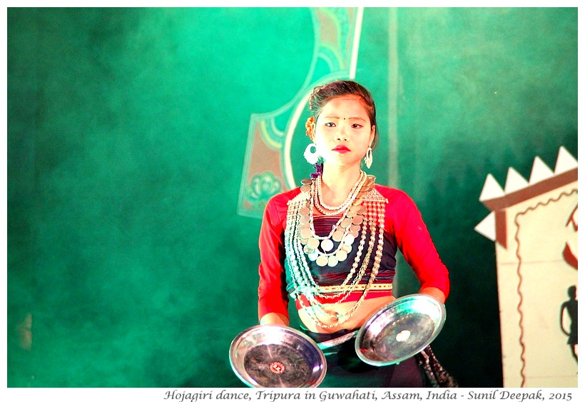 Hojagiri dancer from Tripura, Guwahati, Assam, India - Images by Sunil Deepak