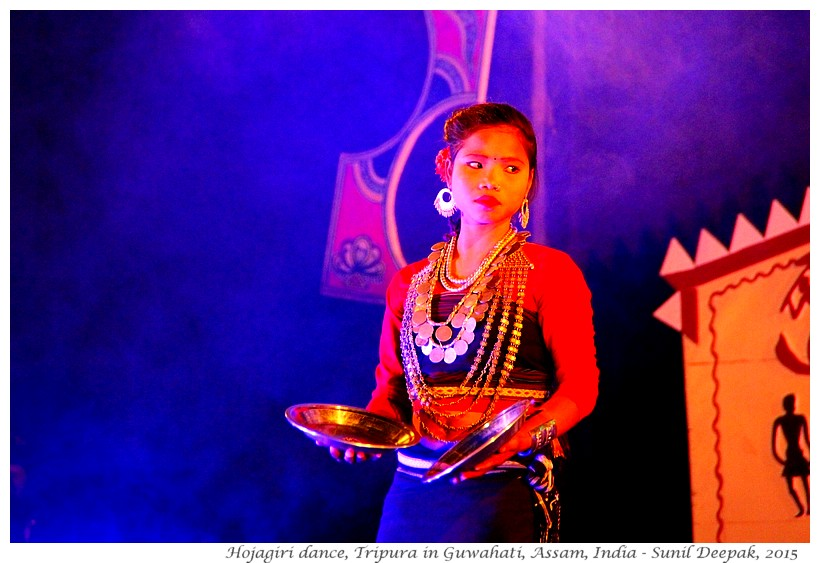 Hojagiri dancer from Tripura, Guwahati, Assam, India - Images by Sunil Deepak