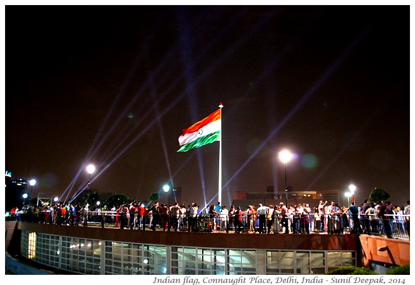 Indian flag, CP, Delhi, India - Images by Sunil Deepak