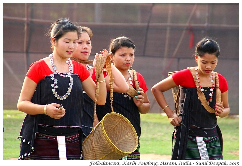 Folk-dancers, Karbi Anglong, Assam, India - Images by Sunil Deepak