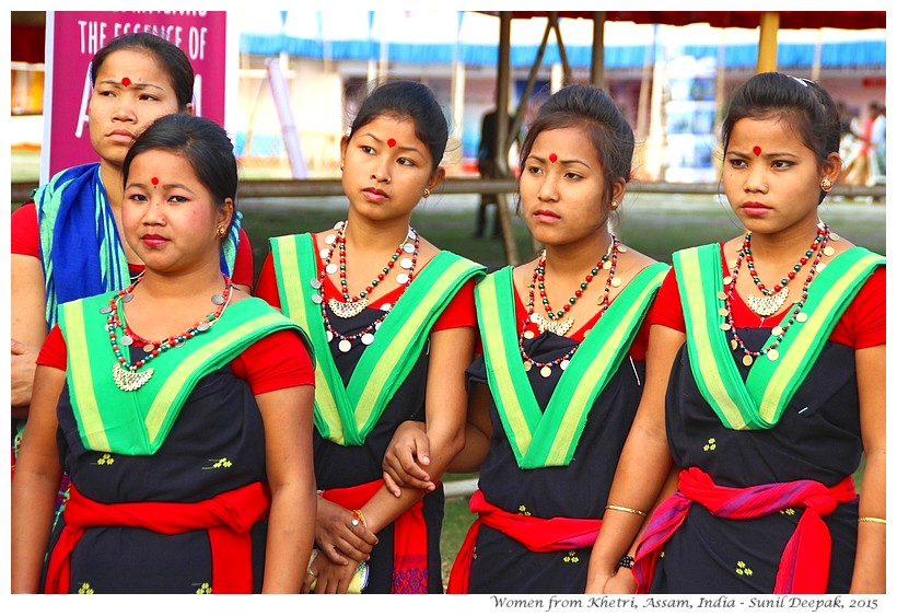 Women khtri, ready for dance, Assam, India - Images by Sunil Deepak