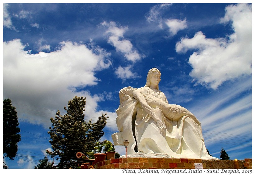Pieta sculpture, Kohima, Nagaland, India - Images by Sunil Deepak