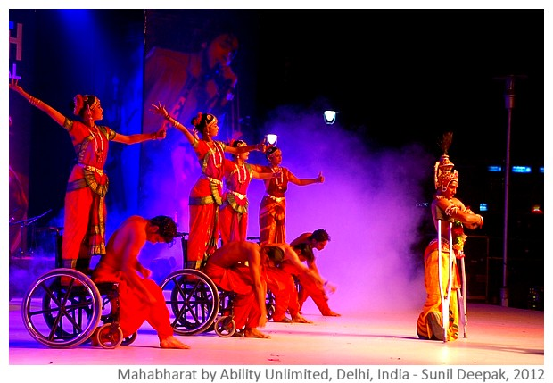 Mahabharat dance drama by Ability Unlimited - images by Sunil Deepak, 2012