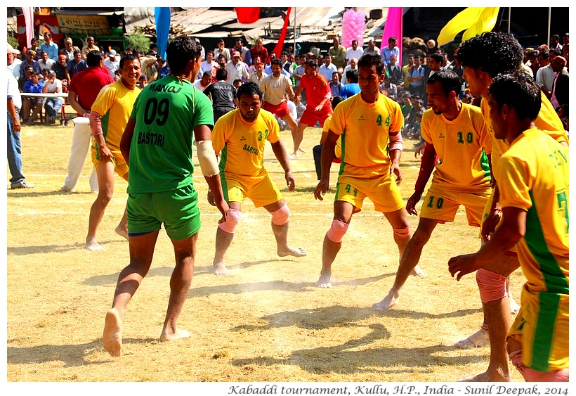 Kabaddi tournament, Kullu, Himachal Pradesh, India - Images by Sunil Deepak