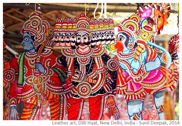 Leather art, Dilli Haat, Delhi India - images by Sunil Deepak, 2014