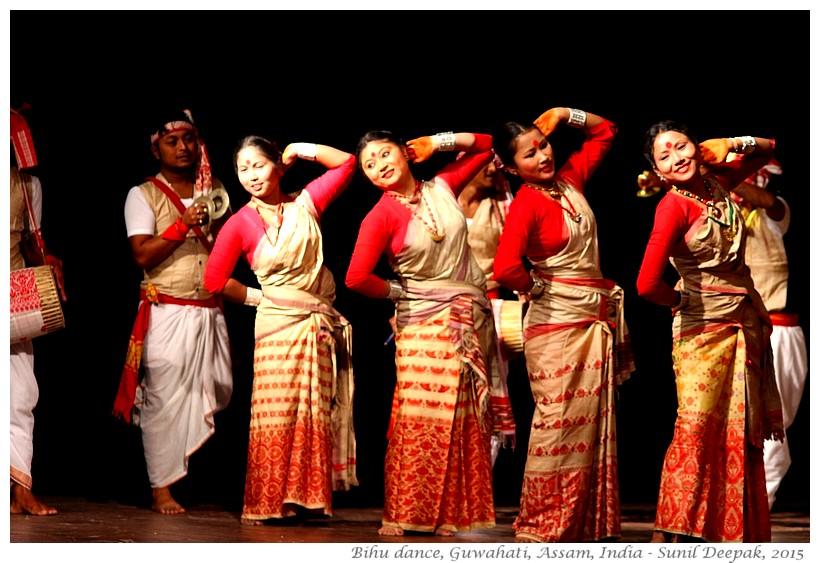 Bihu dance, Guwahati, Assam - Images by Sunil Deepak