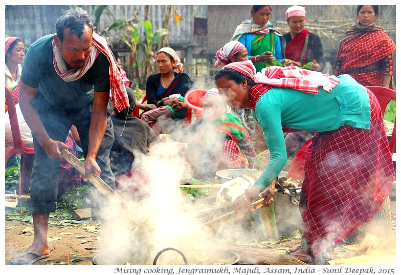 Mising cooking in Jengeraimukh, Majuli, Assam, India - Images by Sunil Deepak