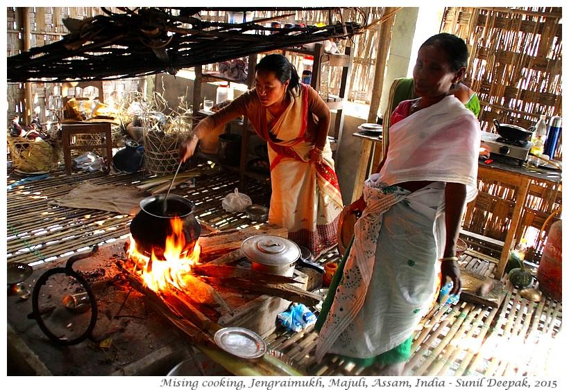 Mising cooking in Jengeraimukh, Majuli, Assam, India - Images by Sunil Deepak