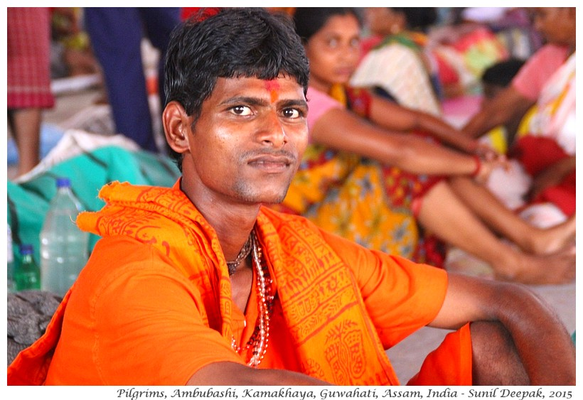 Portraits of men, Ambubashi festival, Guwahati, Assam, India - Images by Sunil Deepak