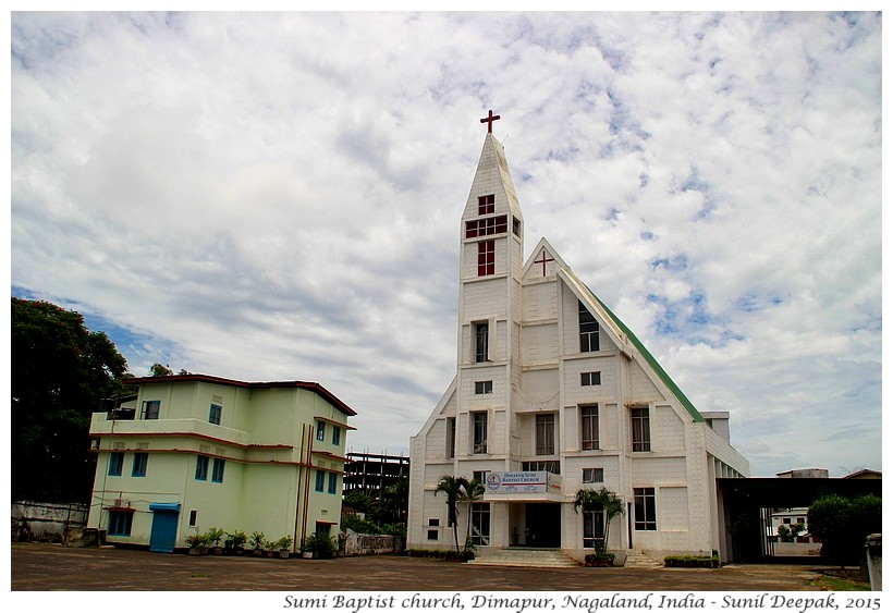 Baptist chuurches, Nagaland, India - Images by Sunil Deepak