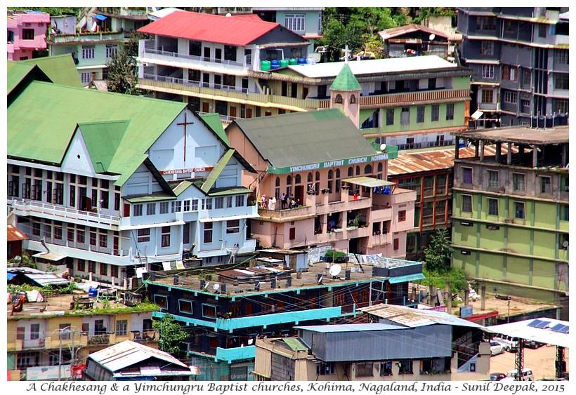 Baptist chuurches, Nagaland, India - Images by Sunil Deepak