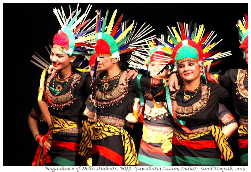 Naga dancers from Rohini, Delhi in Guwahati, Assam, India - Images by Sunil Deepak