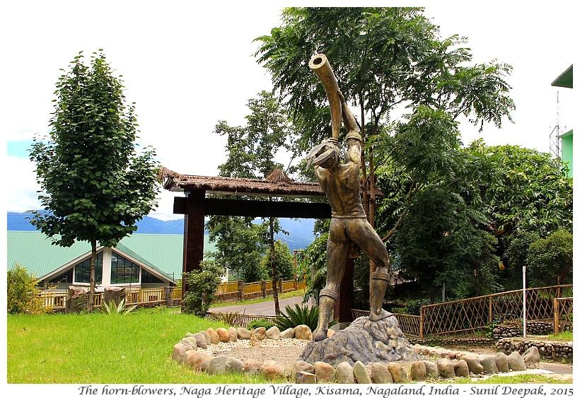 The horn blowers, Kisama, Nagaland, India - Images by Sunil Deepak