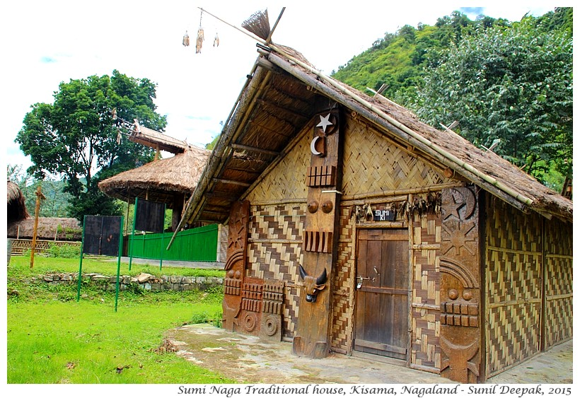 Sumi tribe traditional Naga house, Kisama, Nagaland, India - Images by Sunil Deepak
