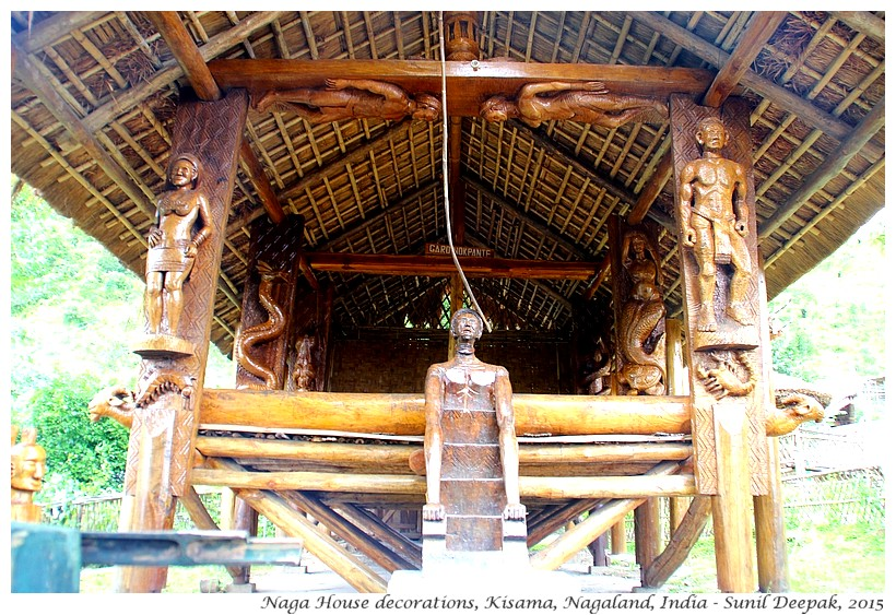 Traditional art at Naga Murungs, Kisama, Nagaland, India - Images by Sunil Deepak