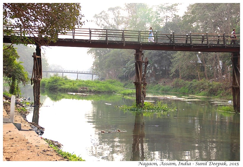 Bridges Kalong river, Nagaon, Assam, India - Images by Sunil Deepak