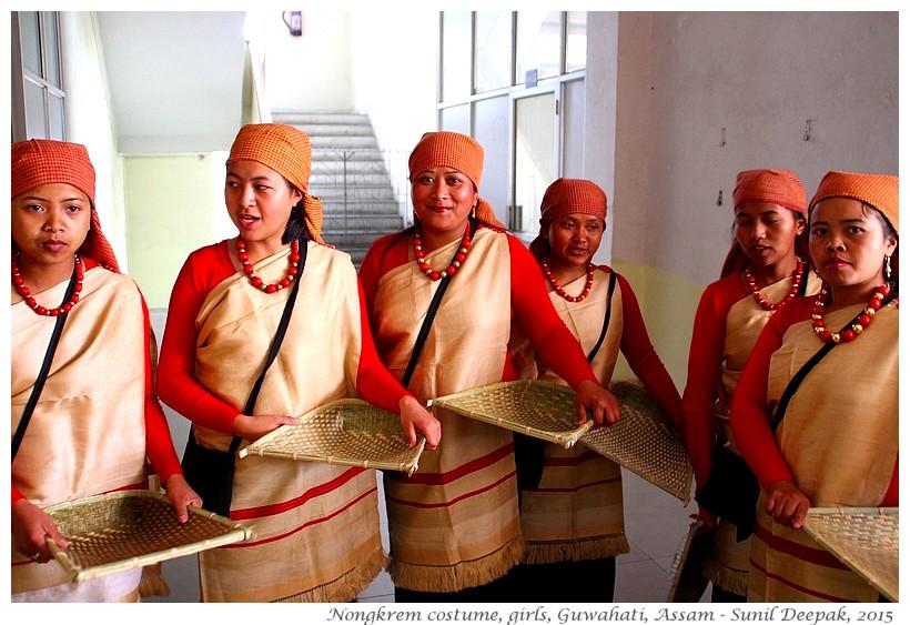 Nongkrem dance costumes, Meghalaya, India - Images by Sunil Deepak, 2015
