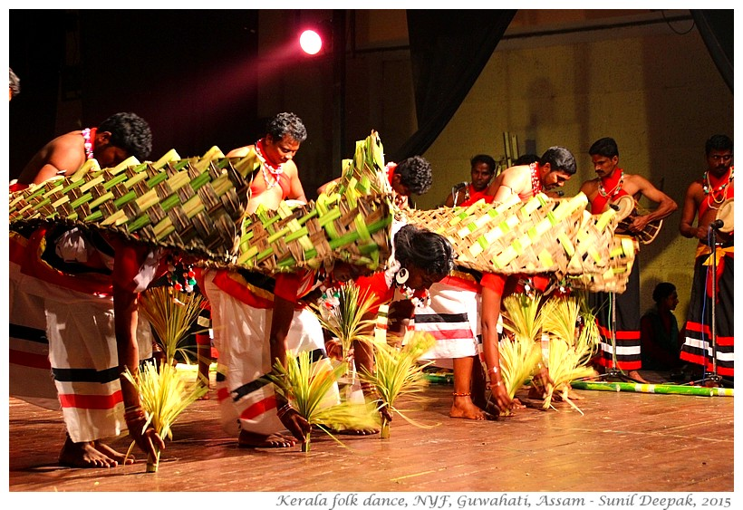 Paniya folk dance, National Youth Festival, Guwahati, Assam, India - Images by Sunil Deepak