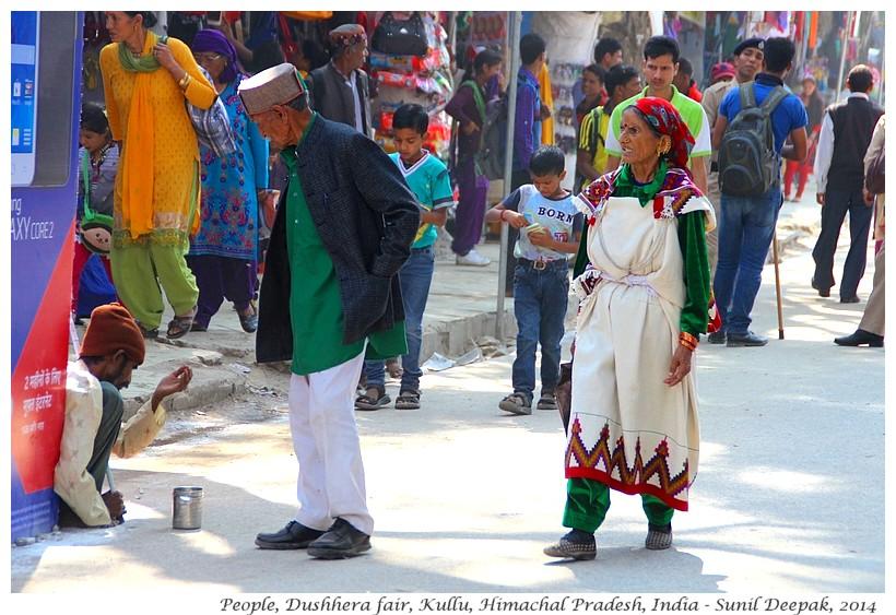 Old couple in traditional dress, Dushhera fair, Kullu, Himachal Pradesh, India - Images by Sunil Deepak