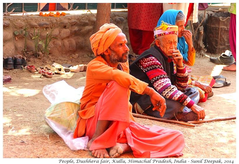 A sadhu resting, Dushhera fair, Kullu, Himachal Pradesh, India - Images by Sunil Deepak