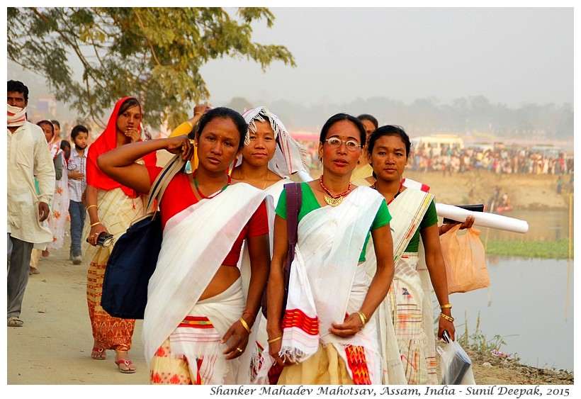 Women, Shanker Mahadev Mahotsav, Assam, India - Images by Sunil Deepak