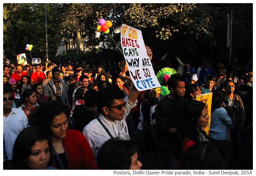 Posters, Delhi Queer Pride parade, India - Images by Sunil Deepak, 2014