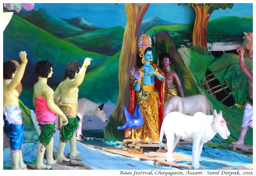 Raas festival, Assam, India - Images by Sunil Deepak