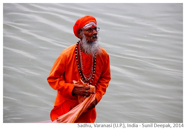 Sadhu in Varanasi, India - images by Sunil Deepak, 2014