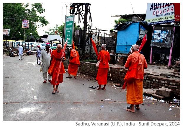 Sadhu in Varanasi, India - images by Sunil Deepak, 2014