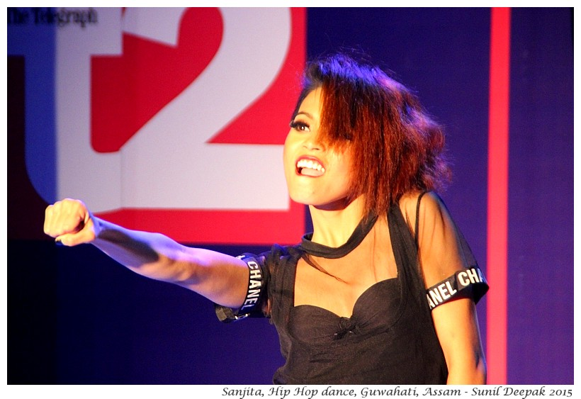 Sanjita, Hip hop dance, Guwahati, Assam, India - Images by Sunil Deepak