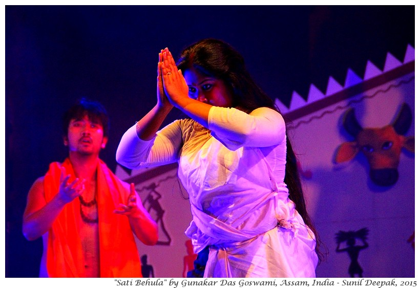 Play Sati Behula by Gunakar Das Goswami, Assam, India - Images by Sunil Deepak