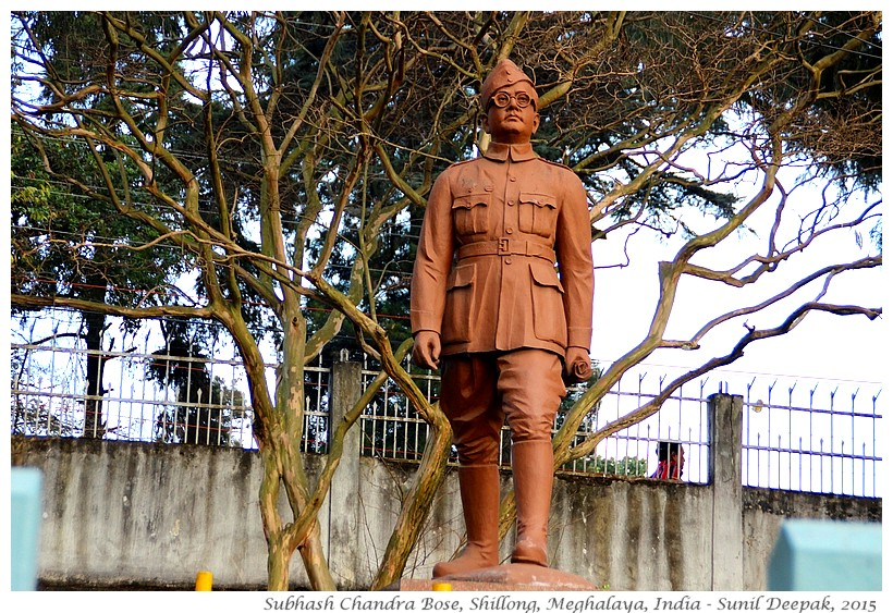 Subhash Chandra Bose statue, Shillong, Meghalaya, India - Images by Sunil Deepak, 2015