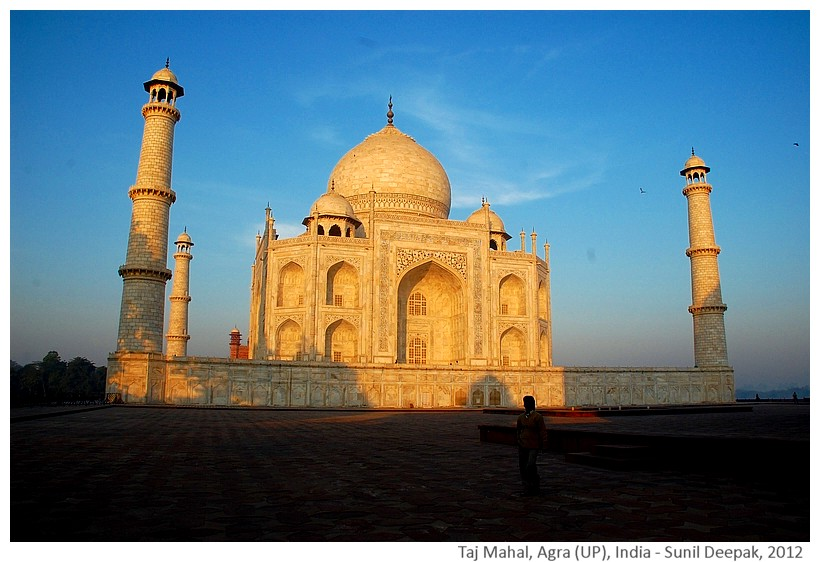 Morning at Taj Mahal, Agra, Uttar Pradesh, India - Images by Sunil Deepak, 2012