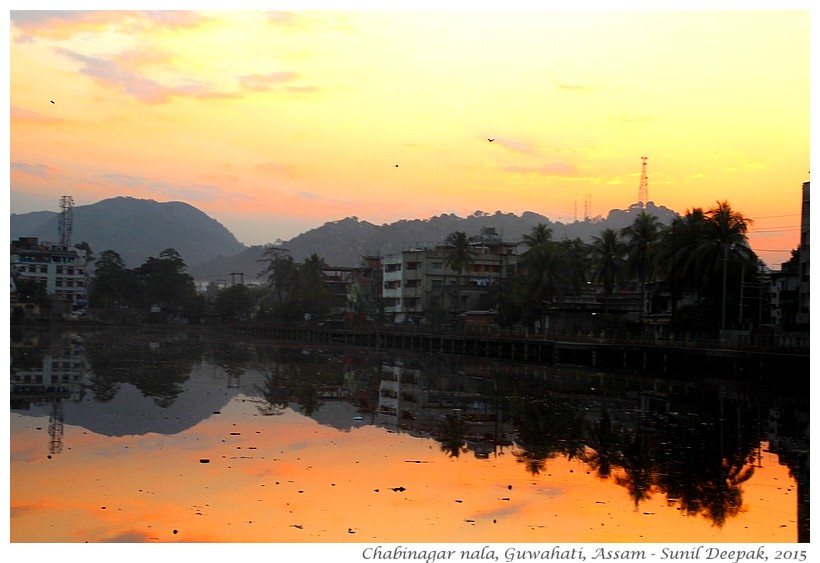 Lake & garbage, Guwahati, Assam, India - Images by Sunil Deepak