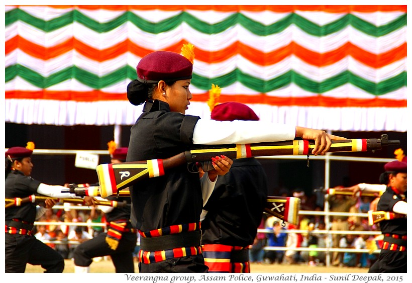 Veerangana group of Assam police, Guwahati, Assam, India - Images by Sunil Deepak