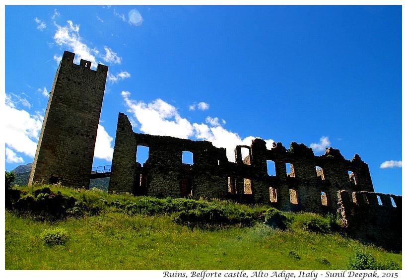 Ruins, Belforte castle, Alto Adige, Italy - Images by Sunil Deepak