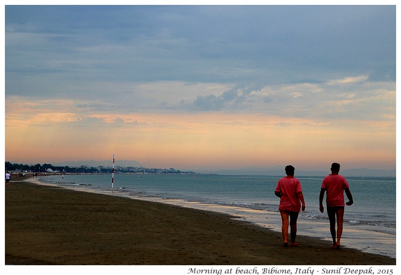 Morning, Bibione beach, Veneto, Italy - Images by Sunil Deepak