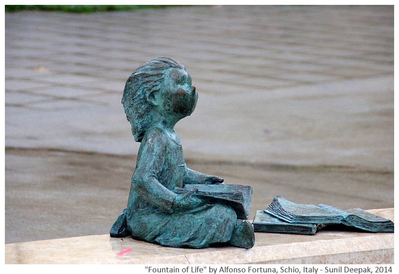 Fountain of life by sculptor Alfonso Fortuna, Schio, Italy - Images by Sunil Deepak, 2014