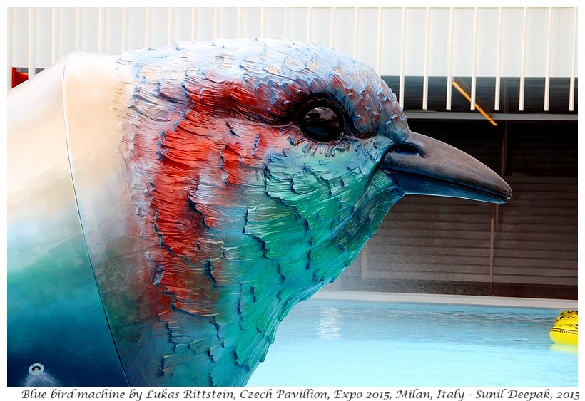 Czech bird, Expo 2015, Milan, Italy - Images by Sunil Deepak