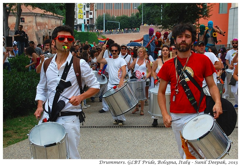 Drummers' group Bologna, Italy - Images by Sunil Deepak
