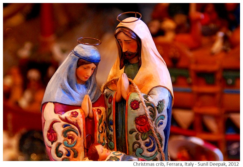 Colourful Christmas cribs, Ferrara, Italy - Images by Sunil Deepak, 2012