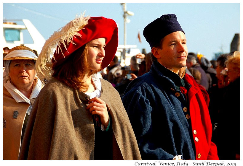 Couples at Carnival, Venice, Italy - Images by Sunil Deepak
