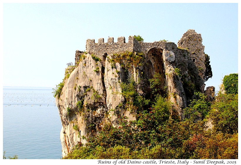 Ruins of old Daino castle, Trieste, Italy - Images by Sunil Deepak