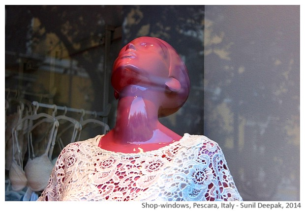 Mannequins, Pescara, Italy - images by Sunil Deepak, 2014