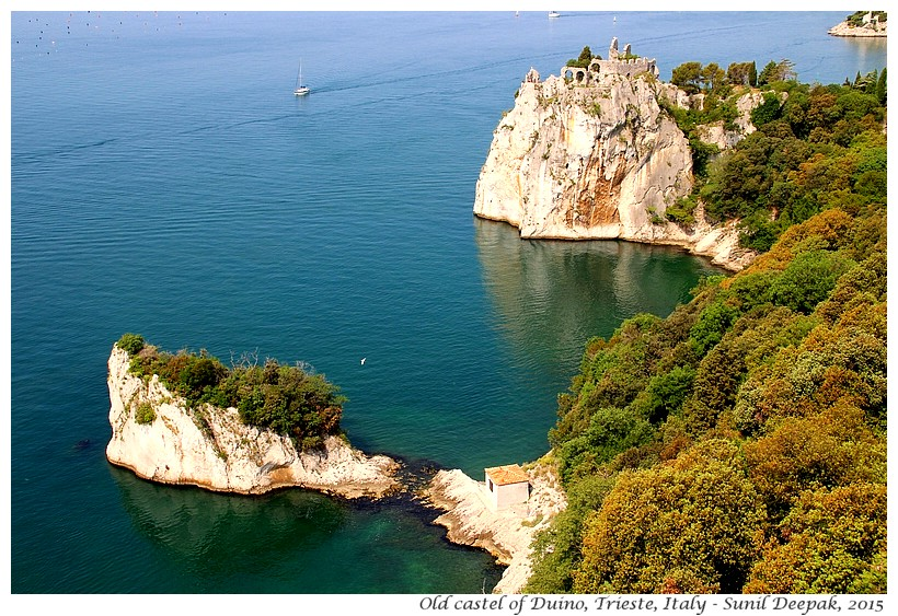 Panorama of Duino castle, Trieste, Italy - Images by Sunil Deepak