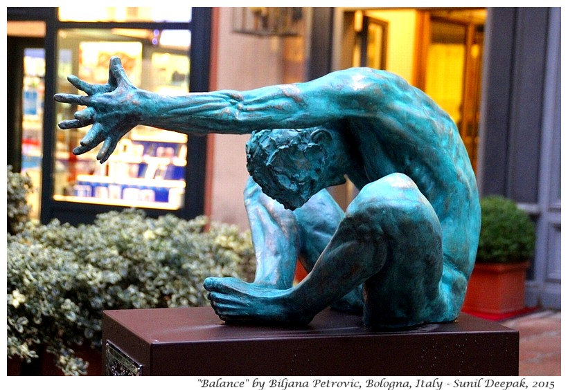 Equilibrium by sculptor Biljana Petrovic, Bologna, Italy - Images by Sunil Deepak