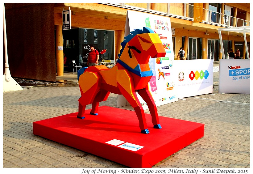 Joy of Moving horse, Expo 2015, Milan, Italy - Images by Sunil Deepak