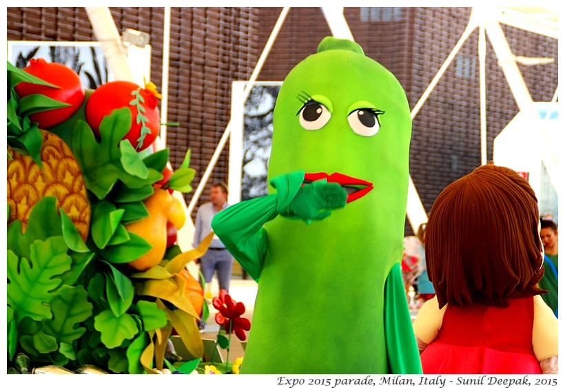 Fruit dancing parade, Expo 2015, Milan, Italy - Images by Sunil Deepak